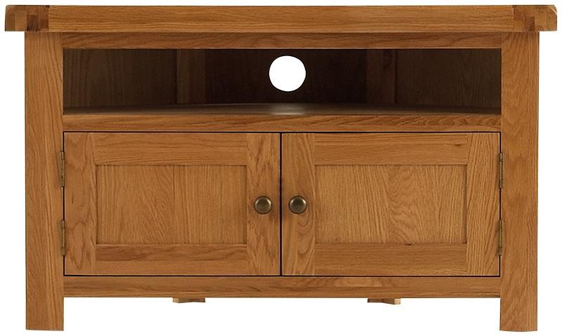 Most Recent Rustic Wood Tv Cabinets Throughout Tv Cabinets : Oldbury Rustic Oak Corner Tv Unitoldbury Rustic Oak (Image 11 of 25)
