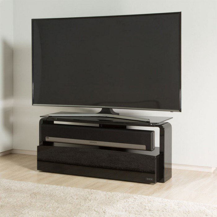 Most Recently Released Alphason Tv Cabinet Throughout Alphason Sonos Playbar Black Tv Stand (As9001) (View 6 of 25)