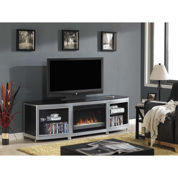 Most Recently Released Annabelle Black 70 Inch Tv Stands Inside 70 Inch Tv Fireplace – Modern Home Interior Ideas • (View 21 of 25)