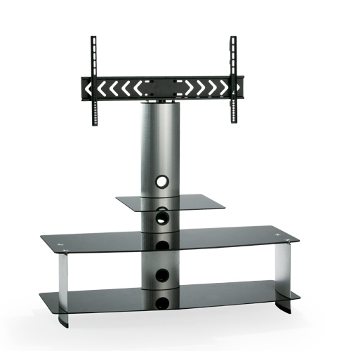 Most Recently Released Cantilever Glass Tv Stand With Cantilever Glass Tv Stand – Swivel Tv Support (Image 17 of 25)