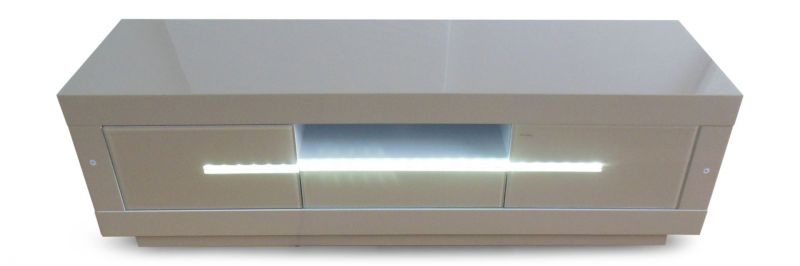 Most Recently Released Cream High Gloss Tv Cabinet Regarding Monte Carlo Cream High Gloss Tv Unit With Led Light – Modish Furnishing (Photo 14 of 25)