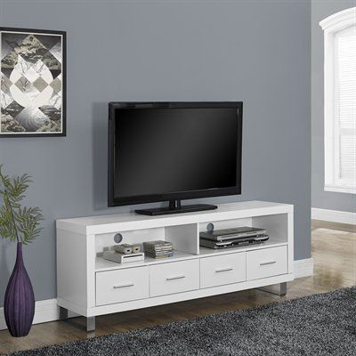Featured Photo of Dixon White 84 Inch Tv Stands