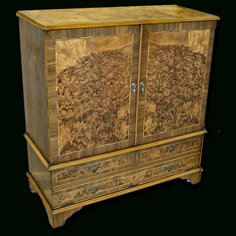 Most Recently Released Enclosed Tv Cabinets With Doors Pertaining To Enclosed Reproduction Tv Cabinet In Yew,mahogany,oak And Bespoke (Image 16 of 25)
