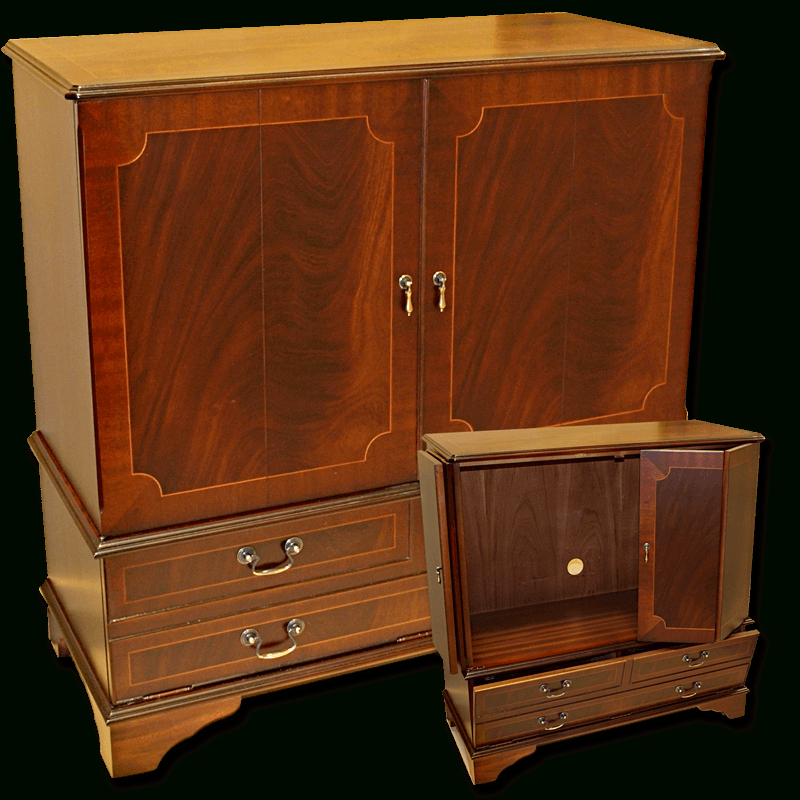Most Recently Released Enclosed Tv Cabinets With Doors Throughout Enclosed Reproduction Tv Cabinet In Yew,mahogany,oak And Bespoke (View 7 of 25)