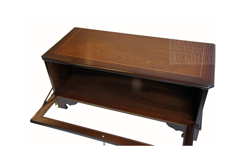 Most Recently Released Glass Front Tv Stands Inside Glass Front Tv/video Box Cabinet (Mahogany Veneer) – Beckenham (Image 15 of 25)