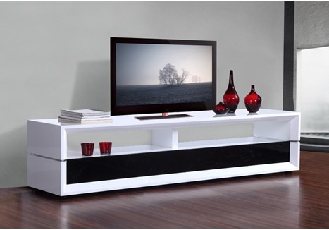 Most Recently Released Gloss White Tv Cabinets For B Modern Executive  (Image 8 of 25)