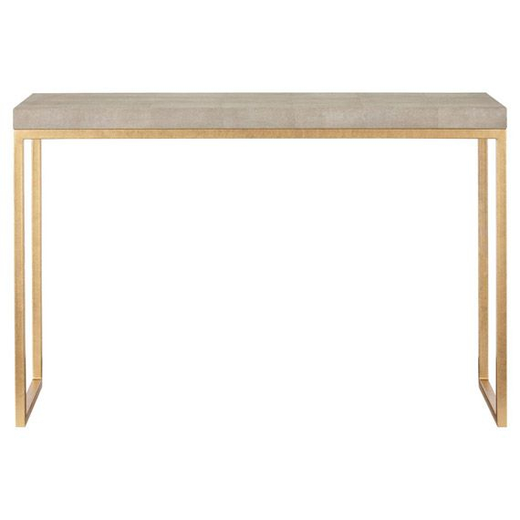 Most Recently Released Grey Shagreen Media Console Tables Inside Lantau Faux Shagreen & Gold Console Table (Image 16 of 25)