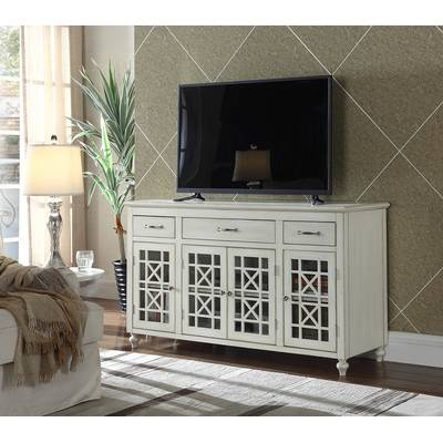 "Most Recently Released Kenzie 72 Inch Open Display Tv Stands Intended For Highland Dunes Hardin Tv Stand For Tvs Up To 65"" & Reviews (Image 15 of 25)"