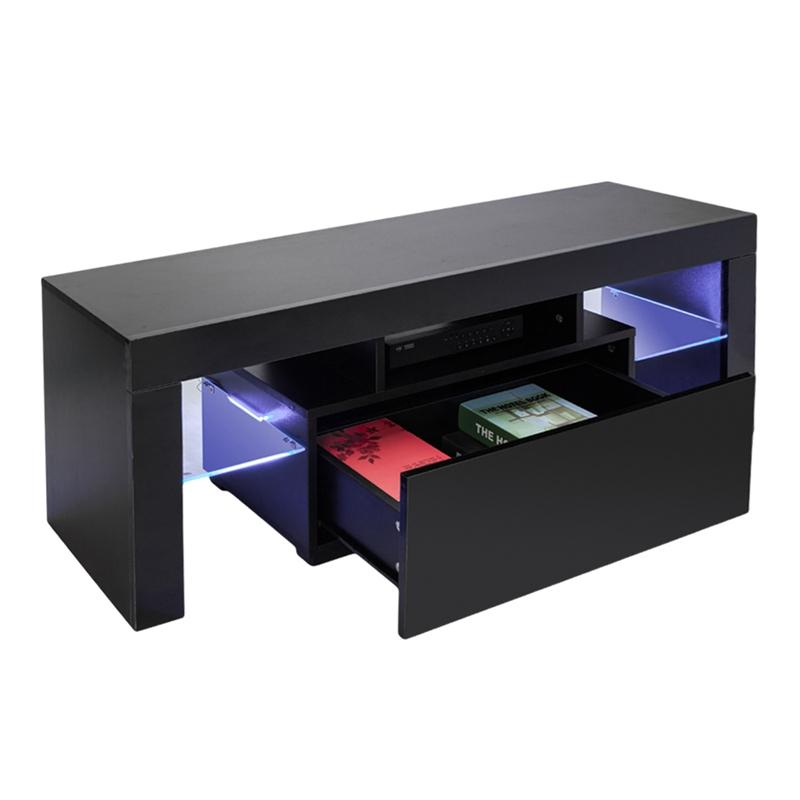 Most Recently Released Led Tv Cabinets With Regard To 2019 Led Tv Stand Modern Led Living Room Furniture Black Tv Cabinets (Image 14 of 25)