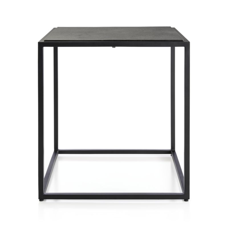 Most Recently Released Mix Leather Imprint Metal Frame Console Tables Within Mix Leather Imprint Tall Metal Frame Side Table (View 2 of 25)