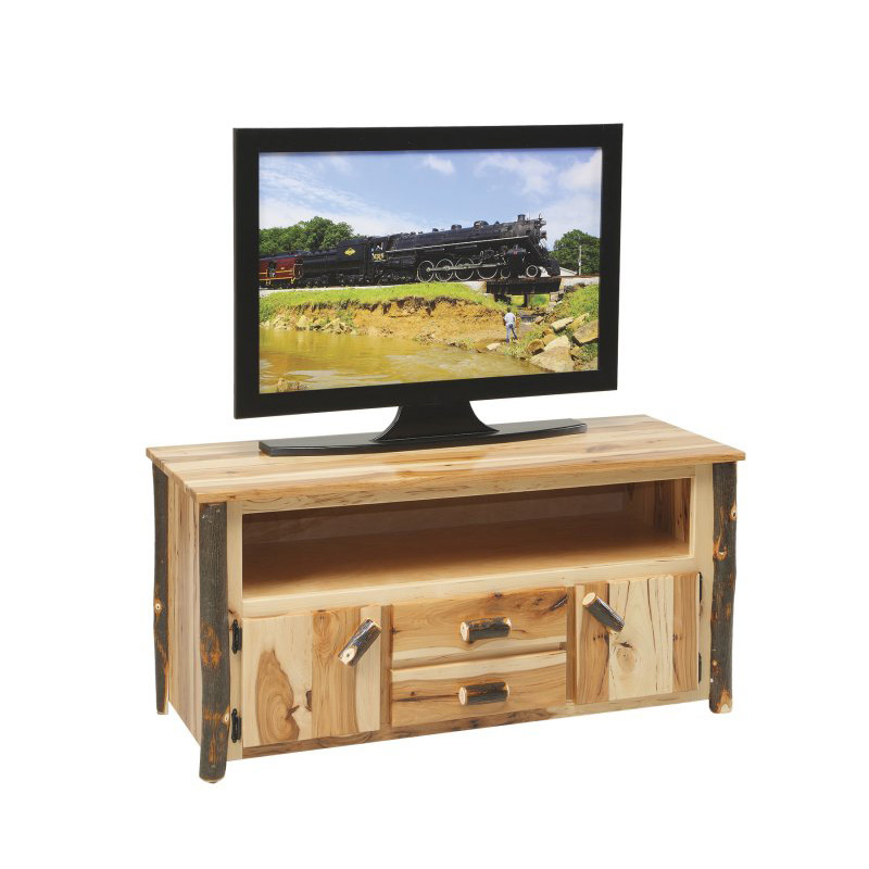 Most Recently Released Noah 75 Inch Tv Stands Within Tv Stand Ccr520 Amish Oak Cabin Furniture Made In Usa Outlet (View 8 of 25)