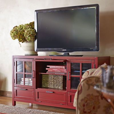 Most Recently Released Oxford 70 Inch Tv Stands With Sausalito Medium Tv Stand – Antique Red (View 11 of 25)