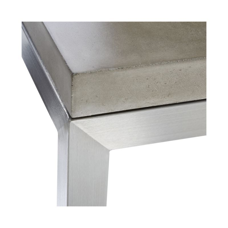 Most Recently Released Parsons Concrete Top & Stainless Steel Base 48X16 Console Tables Within Parsons Concrete Top/ Stainless Steel Base 48X16 Console (Image 20 of 25)
