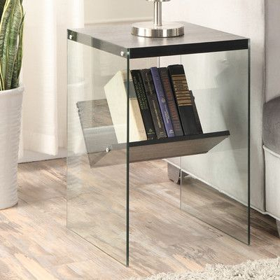 Most Recently Released Parsons Grey Solid Surface Top & Stainless Steel Base 48X16 Console Tables With Regard To Convenience Concepts Soho End Table Finish: Weathered Gray (Image 9 of 25)