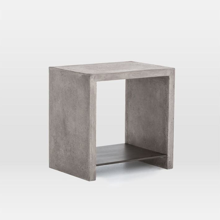 Most Recently Released Parsons White Marble Top & Elm Base 48X16 Console Tables In Concrete Top Console Table (Image 16 of 25)