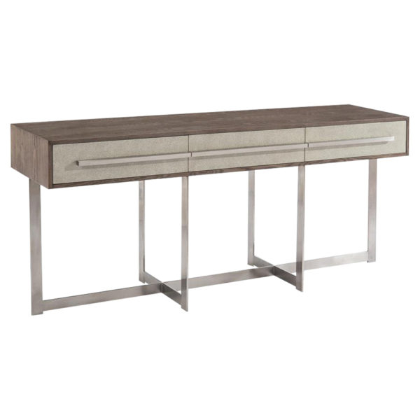 Most Recently Released Remi Console Tables Throughout Asbury Taupe Three Drawer Park Console Table (Image 11 of 25)