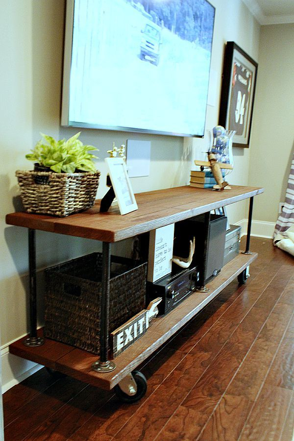 Most Recently Released Walters Media Console Tables Within How To Build An Industrial Console Table (View 6 of 25)