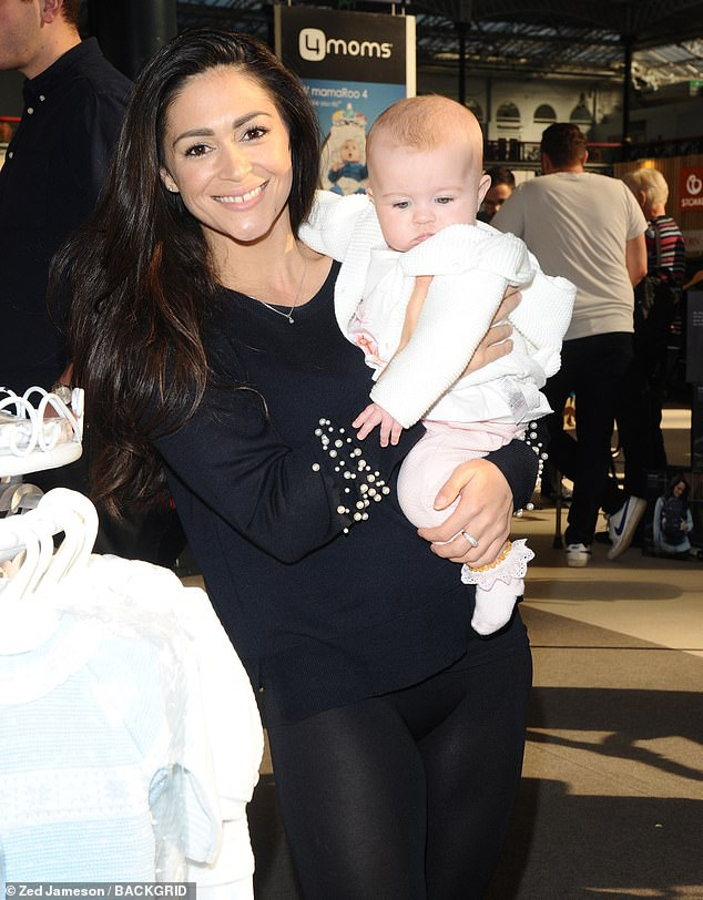 Most Up To Date Casey Grey 66 Inch Tv Stands Inside Casey Batchelor Dotes On Daughter Florence In Kensington (Image 20 of 25)