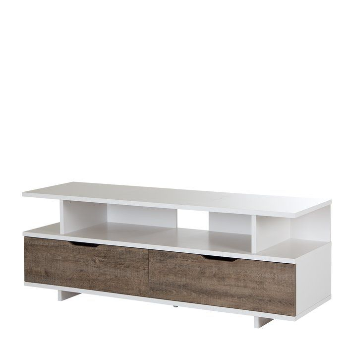 Most Up To Date Edwin Grey 64 Inch Tv Stands Within The South Shore Reflekt Tv Stand Has Two Large Drawers And Three (Image 9 of 25)