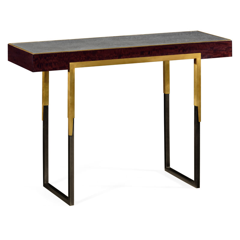 Most Up To Date Faux Shagreen Console Tables For 495592 Lbe Jc Modern Langkawi Rectangular Console Table With (View 11 of 25)