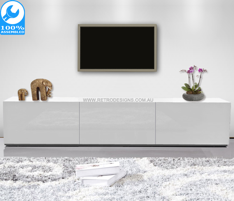 Most Up-to-Date Gloss White Tv Cabinets within 1.8M High White Gloss Suprilla Tv Unit