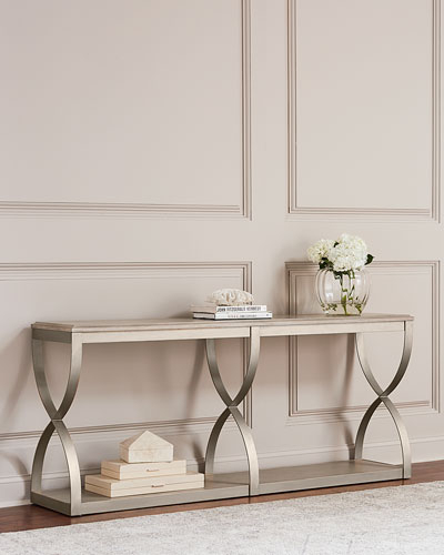 Most Up To Date Layered Wood Small Square Console Tables Pertaining To Handcrafted Console Table (Image 12 of 25)