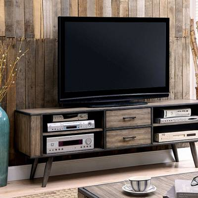 "Most Up To Date Marvin Rustic Natural 60 Inch Tv Stands Throughout Beachcrest Home Naples Park Tv Stand For Tvs Up To 55"" & Reviews (View 22 of 25)"
