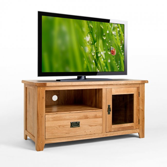 [%Most Up To Date Oak Tv Cabinet With Doors Pertaining To 50% Off Rustic Oak Tv Cabinet With Glass Doors | Westbury|50% Off Rustic Oak Tv Cabinet With Glass Doors | Westbury Within Fashionable Oak Tv Cabinet With Doors%] (Image 1 of 25)