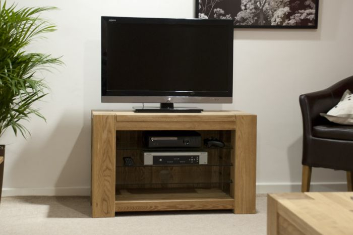 Most Up To Date Oak Tv Cabinet With Doors Within Pandora Solid Oak Tv Cabinet (View 7 of 25)