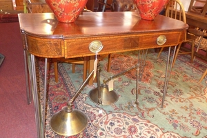 Most Up To Date Orange Inlay Console Tables For A Mahogany And Boxwood Inlaid Console Table, Having One Long (Image 17 of 25)
