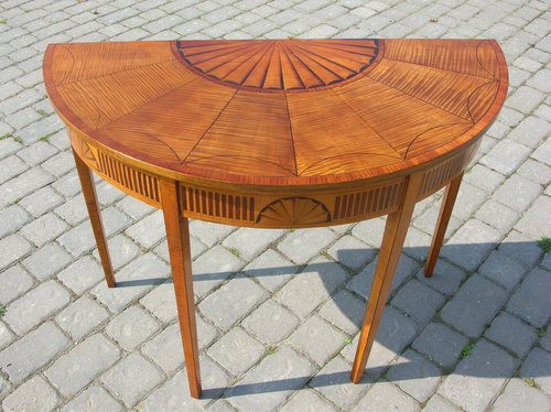 Most Up To Date Orange Inlay Console Tables Pertaining To Antique Georgian Inlaid Console Table – Antiques Atlas (Image 19 of 25)