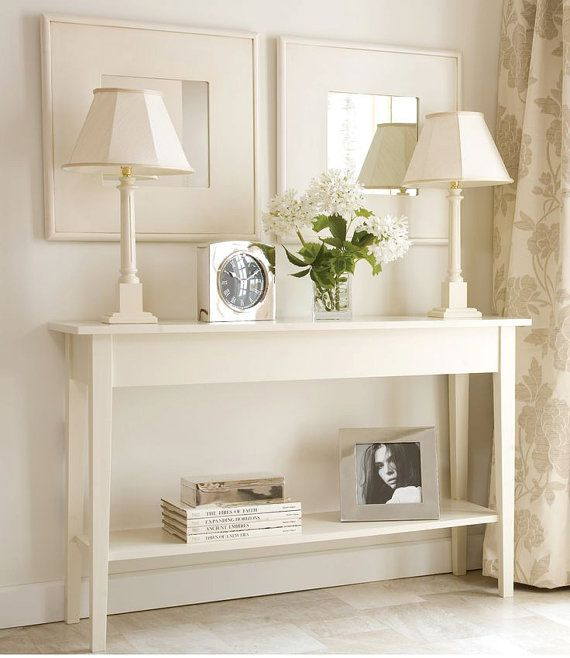 Most Up To Date Parsons Grey Solid Surface Top & Brass Base 48X16 Console Tables Intended For White Console Table,sofa Table,hallway Table,small Console Table (Image 13 of 25)