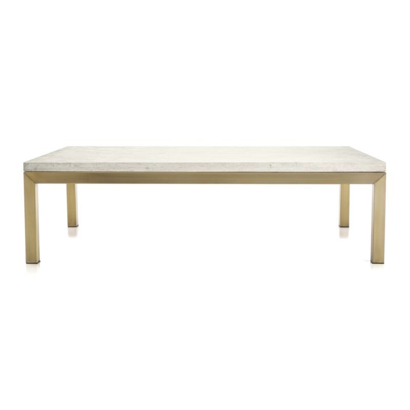 Most Up To Date Parsons Travertine Top & Stainless Steel Base 48X16 Console Tables Inside Parsons Travertine Top/ Brass Base 60X36 Large Rectangular Coffee (Image 11 of 25)