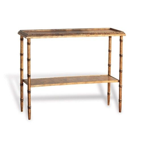 Most Up To Date Parsons Travertine Top & Elm Base 48X16 Console Tables Pertaining To Port 68 Doheny Console – Gold (Image 5 of 25)