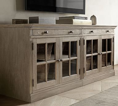 Most Up To Date Preston 66 Inch Tv Stands For Livingston Small Tv Stand With Glass Doors (Image 15 of 25)