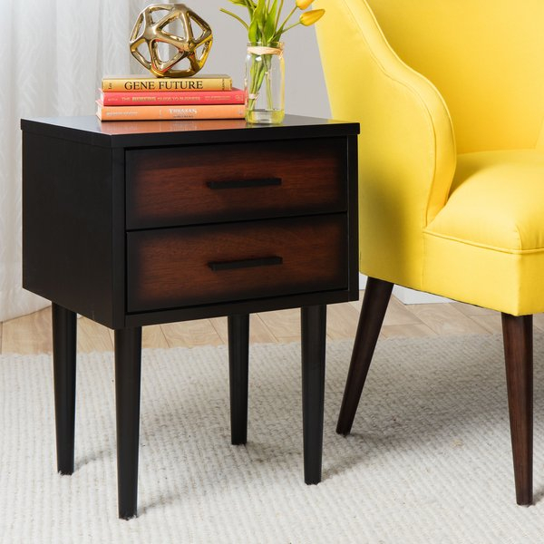 Most Up To Date Preston 66 Inch Tv Stands Pertaining To Shop Carson Carrington Preston 2 Drawer Cherry/ Black Mid Century (Image 17 of 25)