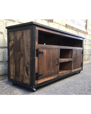 Most Up To Date Rustic Wood Tv Cabinets Pertaining To Wood Entertainment Center With Reclaimed Tv Cabinet Custom Made (Image 14 of 25)