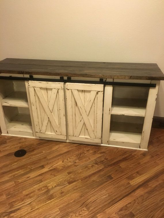 Most Up To Date Rustic Wood Tv Cabinets Regarding Farmhouse Tv Console Media Console Rustic Tv Standcmwoodwerks (Image 15 of 25)
