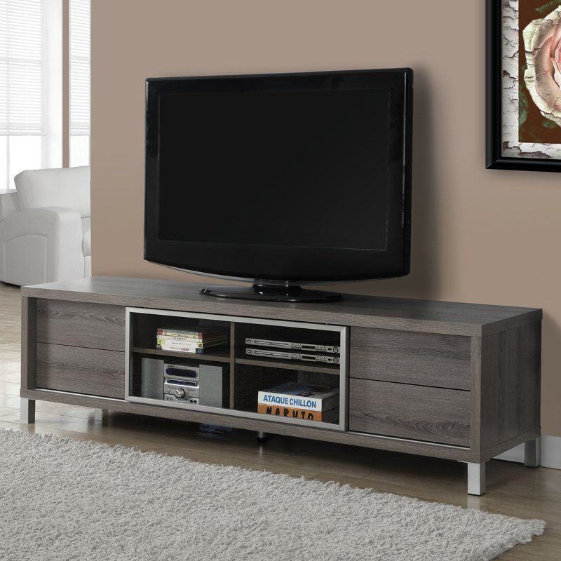 Most Up To Date Sinclair Grey 74 Inch Tv Stands For Have To Have It. Monarch 70 In. Euro Tv Console – $ (Image 17 of 25)