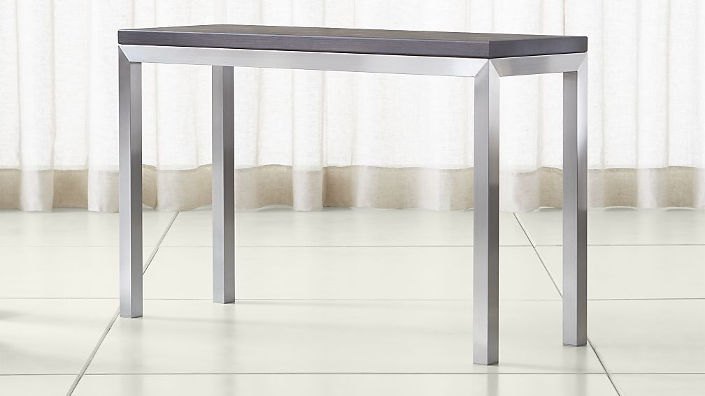 Featured Image of Parsons Concrete Top & Stainless Steel Base 48X16 Console Tables