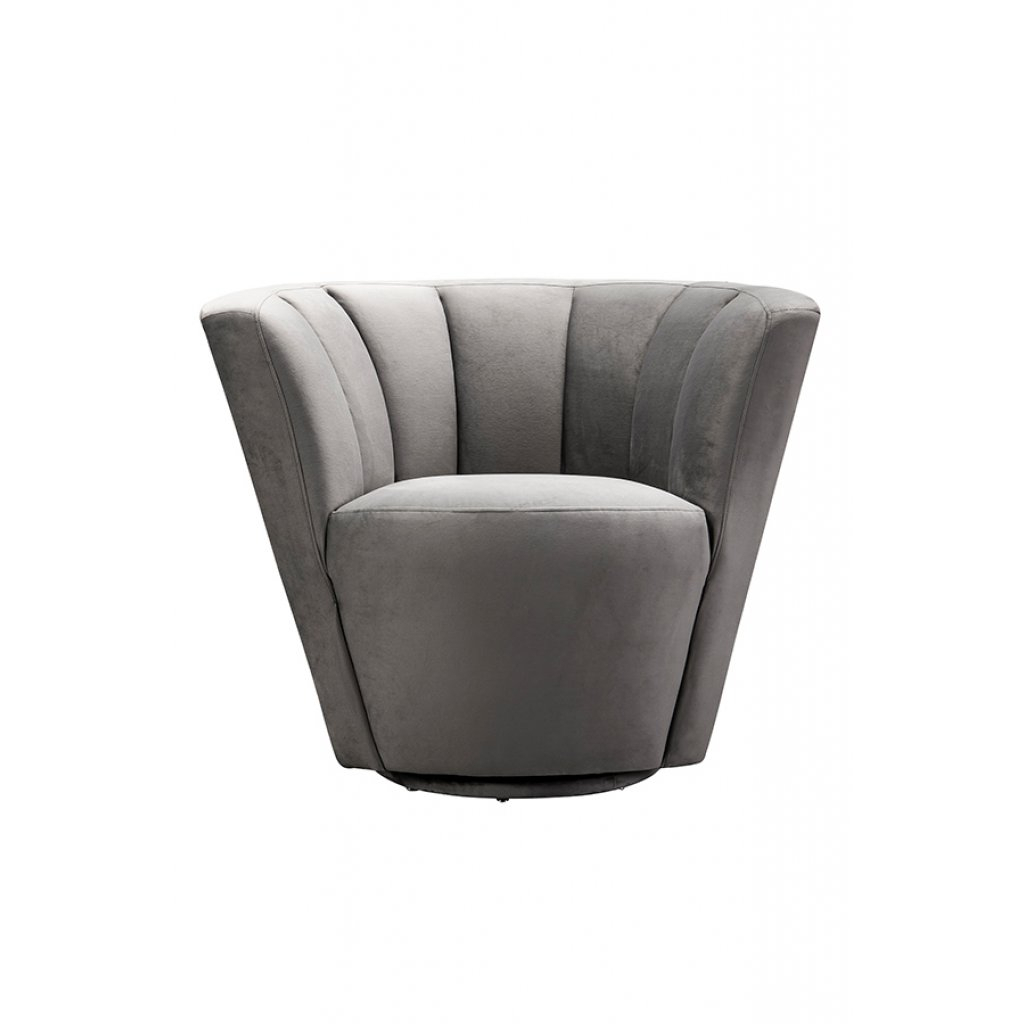 My Furniture – Lorianna Armchair/ Mid Century Armchair / Shell Chair In Grey Swivel Chairs (View 12 of 25)