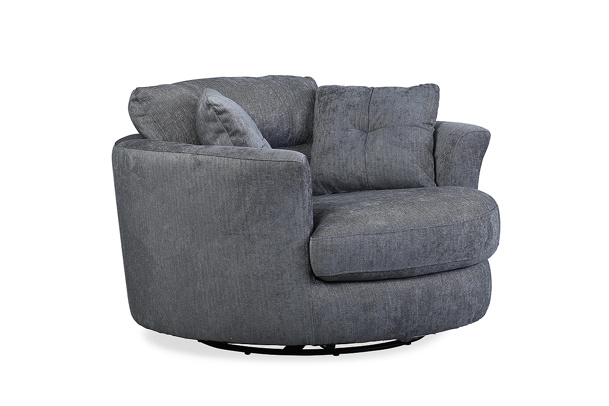 Nelson Swivel Chair Charcoal – Furniture Stores Ireland With Charcoal Swivel Chairs (Photo 9 of 25)