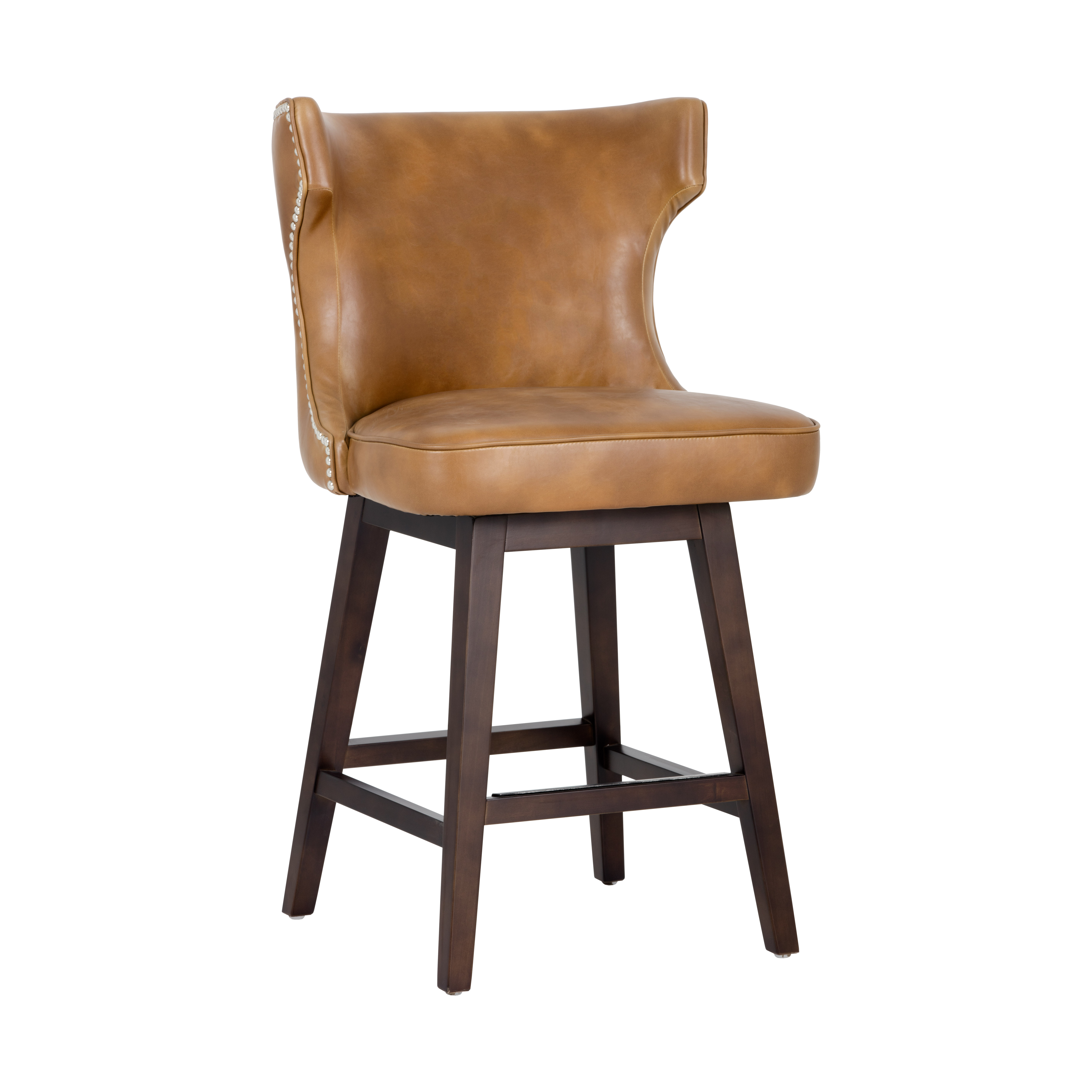 Neville Swivel Counter Stool – Tobacco Tansunpan Furniture With Swivel Tobacco Leather Chairs (Photo 13 of 25)