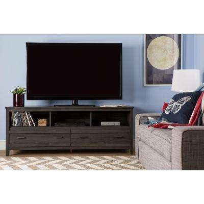 Newest Abbott Driftwood 60 Inch Tv Stands For Gray – Tv Stands – Living Room Furniture – The Home Depot (View 18 of 25)