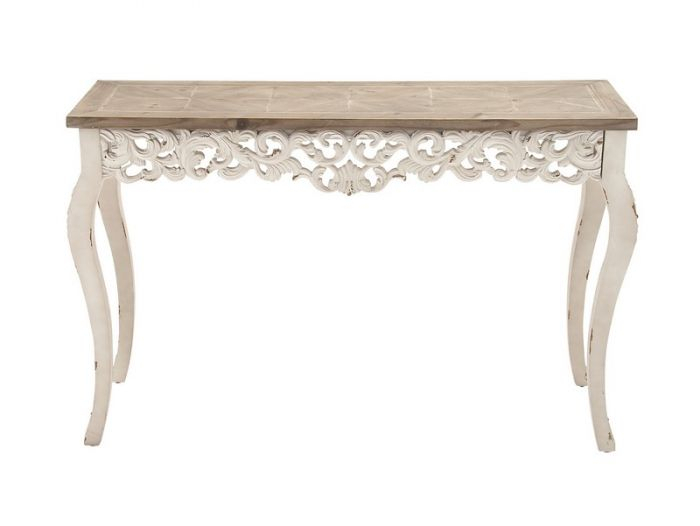 Newest Balboa Carved Console Tables Pertaining To Carved Console Table Traditional Traditional Laeti Sarreid  (Image 17 of 25)