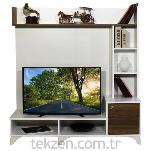 Newest Cato 60 Inch Tv Stands Inside Alpino Ide Tv Ünitesi Ceviz – Beyaz (View 3 of 25)