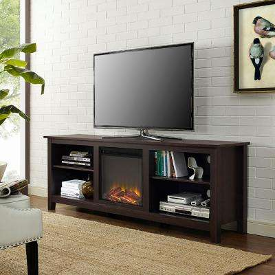 Newest Dixon Black 65 Inch Highboy Tv Stands intended for Electric Fireplaces - Fireplaces - The Home Depot