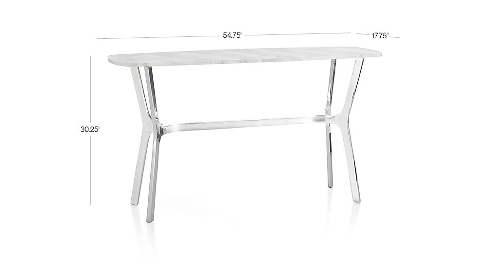 Featured Image of Elke Marble Console Tables With Polished Aluminum Base