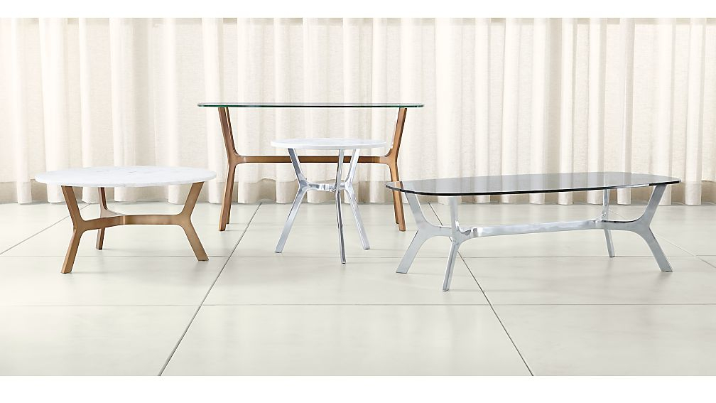 Newest Elke Marble Console Tables With Polished Aluminum Base With Regard To Elke Tables (Image 22 of 25)