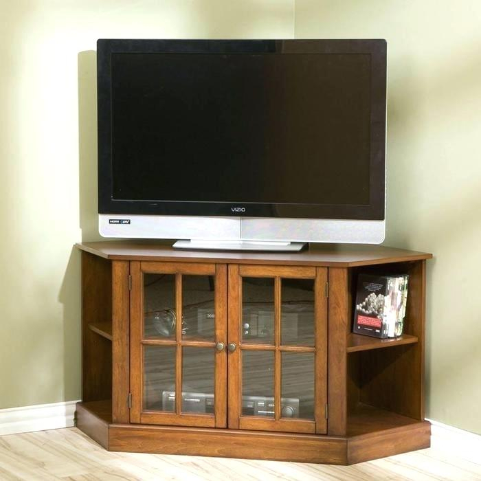 Newest Flat Screen Tv Stands Corner Units Throughout 50 Inch Corner Tv Stand Corner Cabinet Corner Cabinet Oak (Photo 3 of 25)